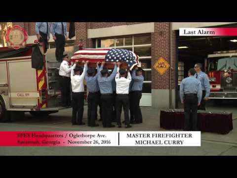 SFES Funeral Procession and Last Alarm for Firefighter Micha