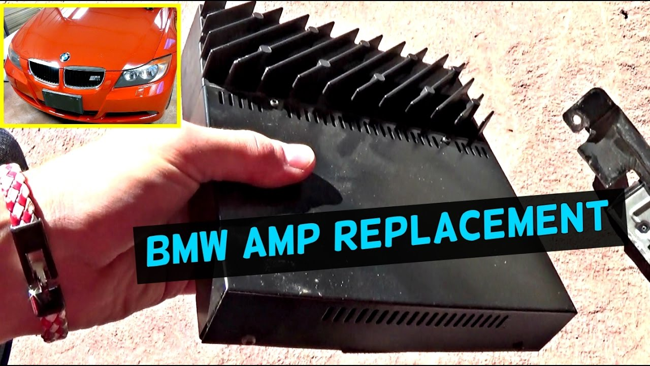 BMW E90 E92 E93 AMP AMPLIFIER REPLACEMENT LOCATION 2007