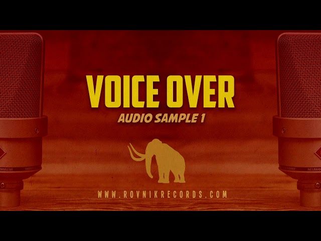 Rovník Records - Voice over audio sample