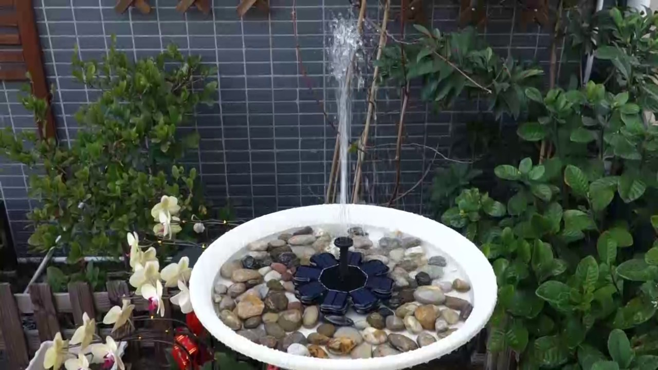 Solar Fountain Pump Anself Solar Powered Fountain Brushless Water Pump Kit For Pond Garden