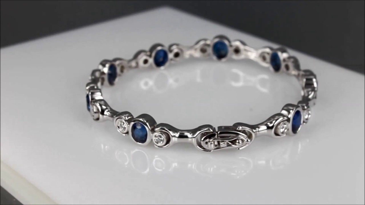 fascinating rose oval gold rg nl blue with diamond bracelet diamonds in bracelets sapphire jewelry
