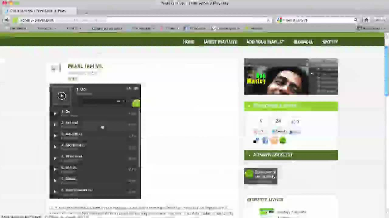 How to embed a spotify playlist player on your website