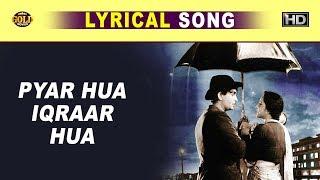 Gambar cover प्यार हुआ इकरार हुआ - Lata Mangeshkar, Manna Dey - Shree 420 - Lyrical Song