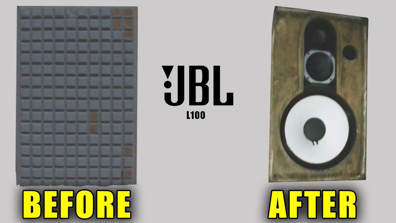 JBL L100 Speakers - Removing The Foam   Eagle Rock Hi-Fi Hangout