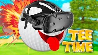 ГОЛЬФ В ВИРТУАЛЬНОЙ РЕАЛЬНОСТИ! (HTC Vive) Tee Time Golf