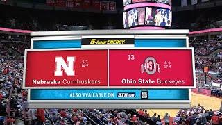 Big Ten Basketball Highlights: Nebraska at Ohio State