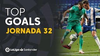 Todos los goles de la jornada 32 de LaLiga Santander 2019/2020