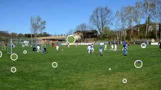 Fotbal 14.4.18.Triangl U8-Baník,Vítky,Sparta,Brno,Olomouc,Slovácko v Markvartovicích,zápas č.2.