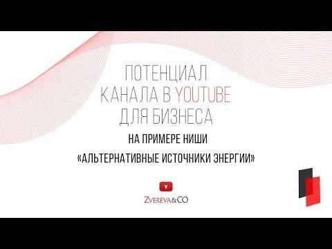 Потенциал развития бизнеса в YouTube на примере ниши Альтернативная энергия