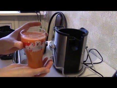 Обзор соковыжималки Scarlett SC-JE50S08, готовим яблочно-морковный сок.