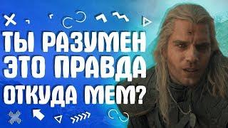 Ты разумен это правда - Откуда появился мем из сериала Ведьмак?