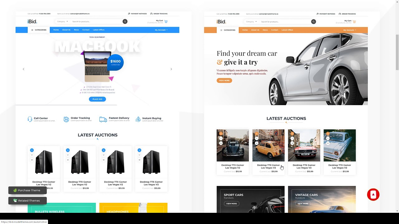 iBid - Multi Vendor Auctions WooCommerce Theme - YouTube