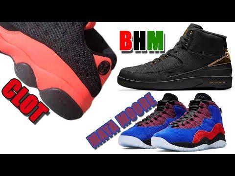 af1274497ad CLOT AIR JORDAN 13 LOW BLACK INFRARED, JORDAN 2 BHM, MAYA MOORE JORDAN 10  AND MORE - YouTube