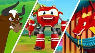 Download Supercar Baby Rikki against Magic bull and Dragon fly | Kids Cartoon Rhyme Mp3 and Videos