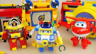 RoboCar Poli and SuperWings car toys fire truck police car airplane center