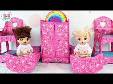 Muebles de muñecas para BEA y ELI Baby Alive Juguetes para bebés en el nuevo cuarto