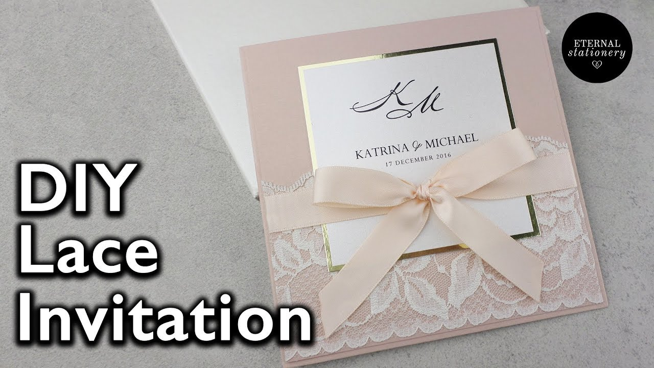 Diy Wedding Invitations With Photo Elegant Lace Invitation Diy Wedding Invitations Eternal Stationery