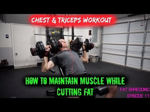 How to Maintain Muscle while Cutting Fat   Chest & Tri's (Fat Shredding Ep. 11) Jonathan Walseman