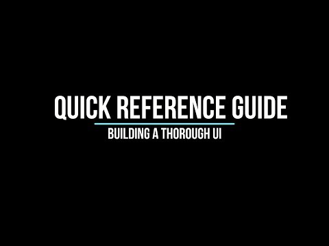 Creating a Thorough UI - A Reference Guide for Tanks