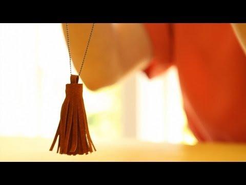 DIY Leather Tassel Necklace | Kin Community