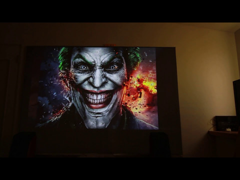 Updated projector screen + XGIMI H1 slideshow