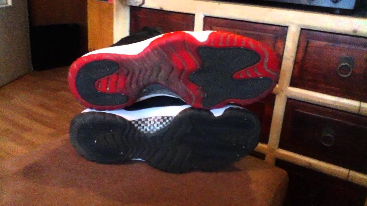 Jordan 11 Bred On Feet