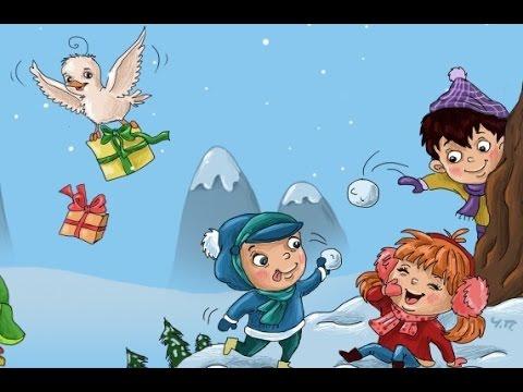 Как дети играют в снежки 28