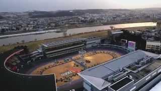 東京オーヴァル京王閣を俯瞰で捉えたドローンの映像です。 京王閣ホーム...