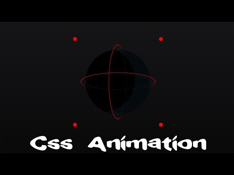 Orbiting 3D Circle with Animated Dots | css 3d transform | css animation tutorial | cool css effects thumbnail