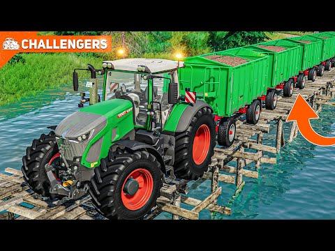 LS19 CHALLENGERS #6: Mit der ANHÄNGERKOLONNE durch den Wald - Katastrophe...   FARMING SIMULATOR 19