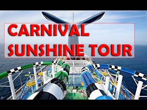 Carnival Sunshine CRUISE SHIP TOUR