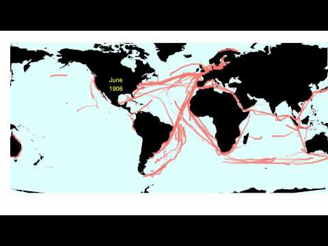 German ship paths (Deutsche Seewarte Marine) 1855-1939