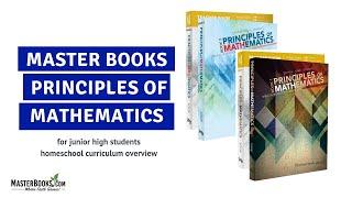 Principles of Math // Randy Pratt // Master Books Homeschool Curriculum Review Video