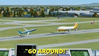 """WRONG RUNWAY!"" Pilot Error in Flight Simulator X (Multiplayer ATC)"