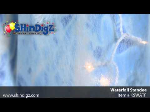 Large Waterfall Standee - KSWATF - Shindigz Luau Party Supplies
