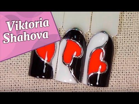 ♥♥♥ ЛЕГКИЙ МАНИКЮР на ДЕНЬ ВЛЮБЛЕННЫХ ♥♥♥/Розовые ногти на День Св. Валентина (14 февраля)