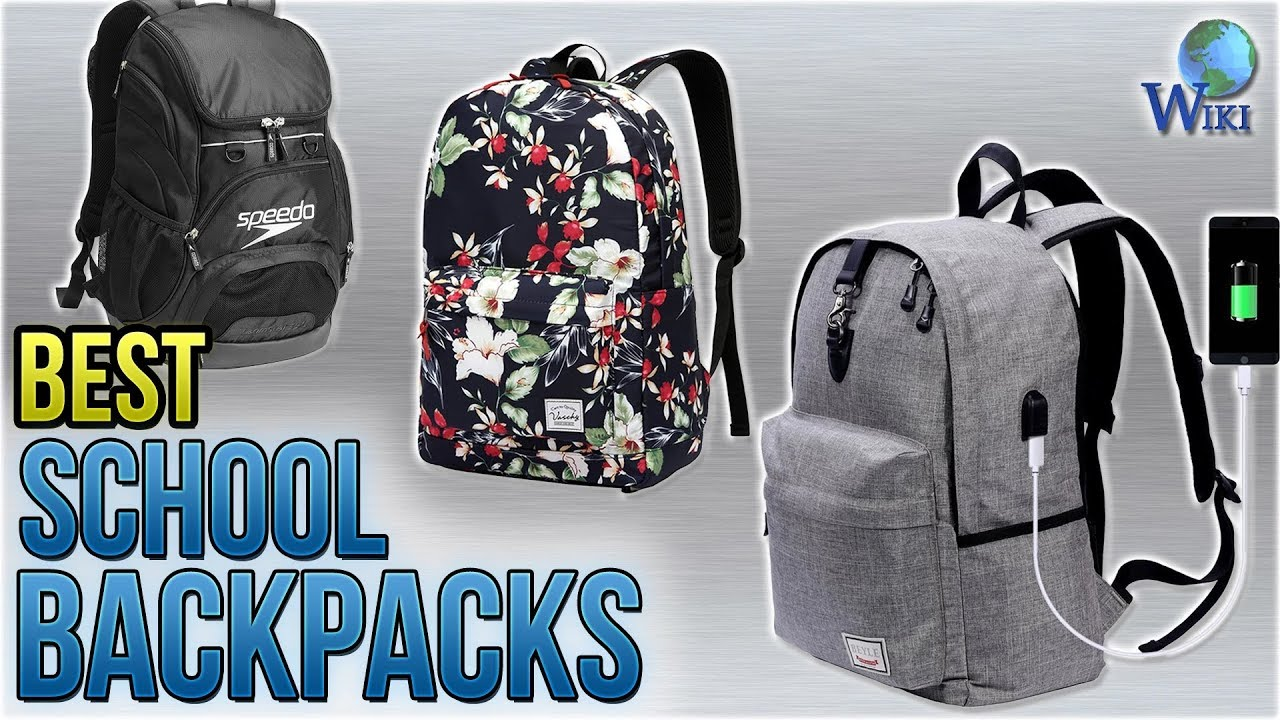 10 Best School Backpacks 2018 - YouTube 3f6382ca7428b