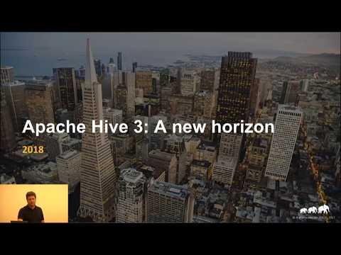 Apache Hive 3: A New Horizon Meetup
