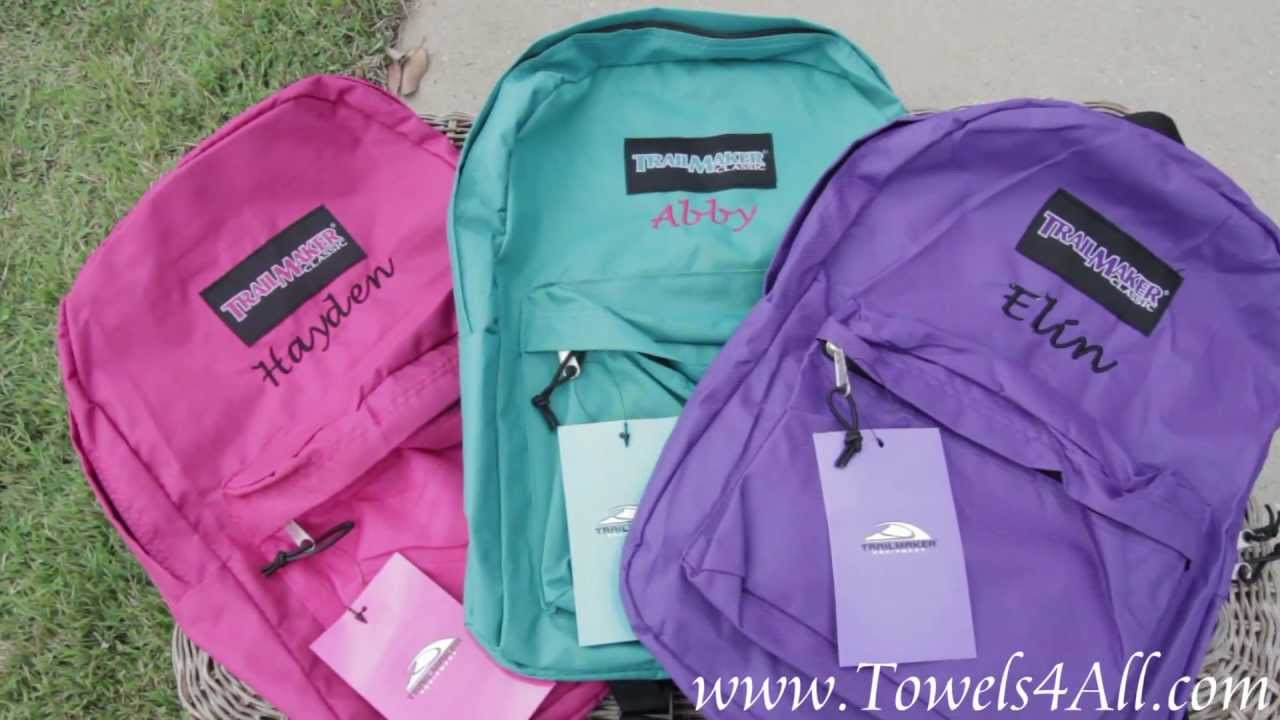 Personalized Embroidered Backpack For Girls 17 Inch  Video Demo