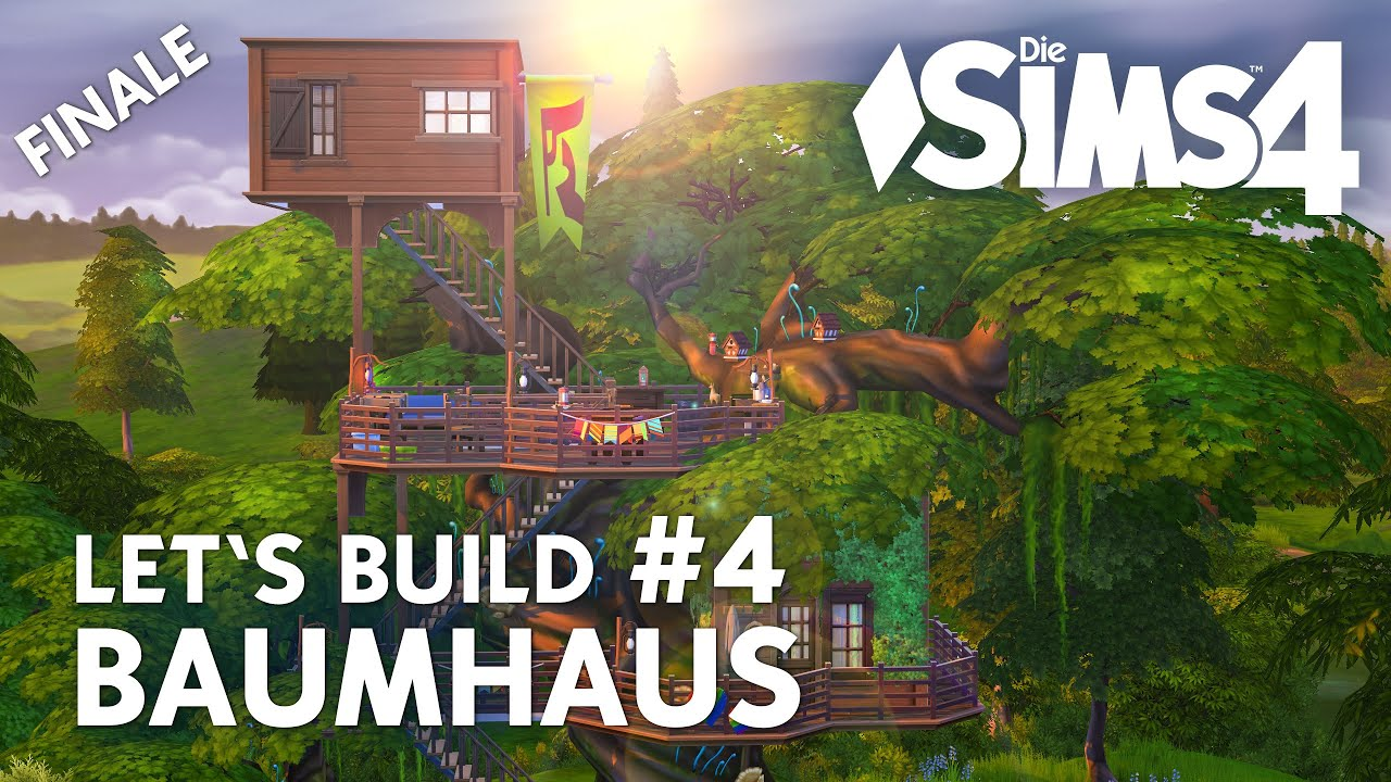 die sims 4 let 39 s build baumhaus 4 haus garten bauen youtube. Black Bedroom Furniture Sets. Home Design Ideas