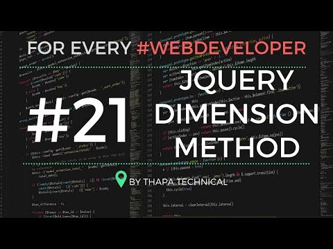 JQuery Tutorial In Hindi #21: JQuery Dimension Methods | Width And Height Method In JQuery Hindi