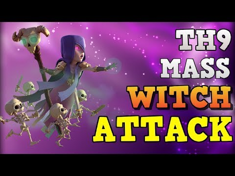 WItch Attack: TH9 Attack Strategy 2018 | 3 Star Max Town Hall 9 Base | Clash Of Clans