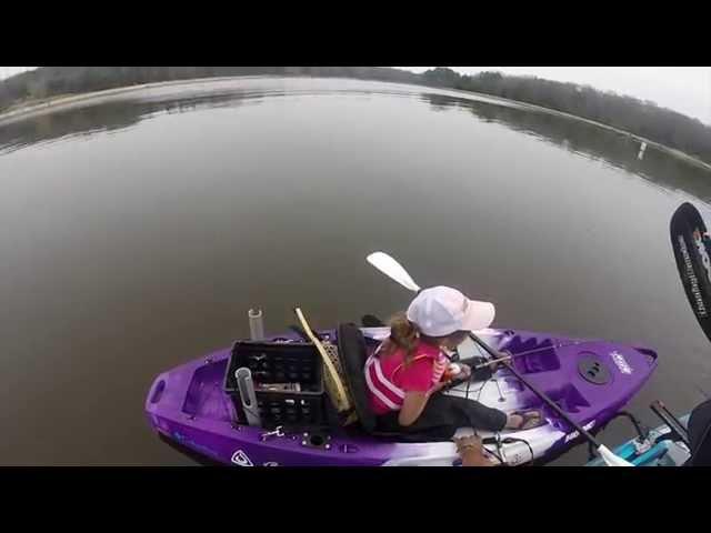 Kayak fishing with my daughter.