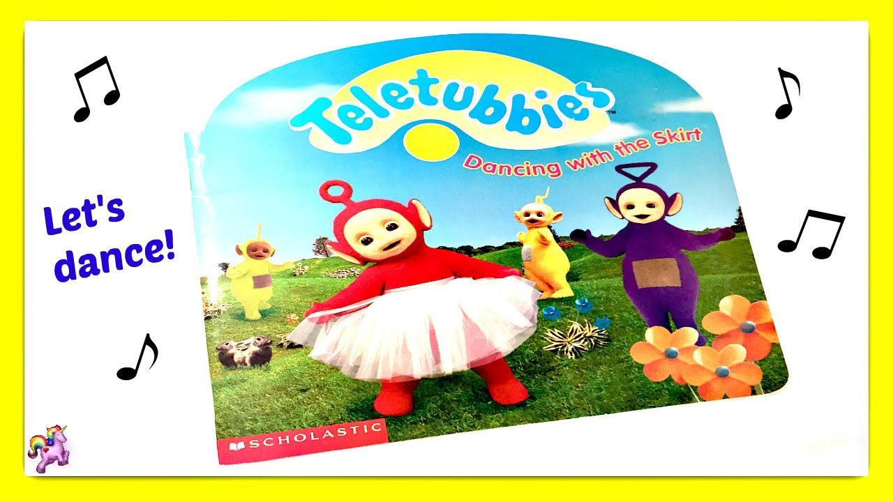 "Animated Skirt teletubbies ""dancing with the skirt"" - read aloud - storybook for kids,  children"