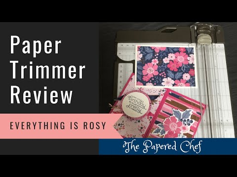 NEW Stampin' Up! Paper Trimmer - Review & First Impressions - Everything is Rosy Cards