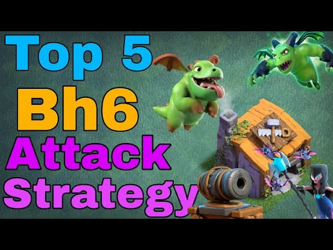 TOP 5 Best Builder Hall 6 Attack Strategy | Coc BH6 Base | Clash Of Clans