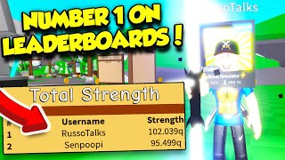I GOT NUMBER ONE ON THE LEADERBOARDS IN SABER SIMULATOR BECOMING THE STRONGEST EVER! (Roblox)