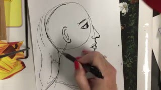 How to Draw a Profile Portrait for Young Students