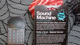 Sound Machine - Horror Special - Great for Halloween - Detailed & Fun Review - 16 sounds - By NPW