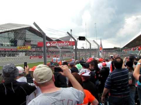 F1 British Grand Prix 2011 Silverstone race start